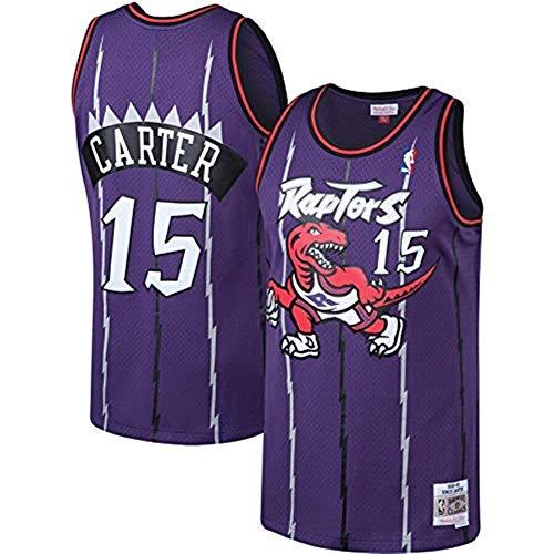 Carter Uniform (Ldwxxx NBA Vince Carter - Toronto Raptors # 15, Basketball Uniform Jersey Weste, Stickerei Swinger, Sportbekleidung (Color : Purple, Size : XXL))