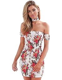 vestidos de mujer,Switchali Mujer Vendimia Bohemia Floral moda vestido de Fiesta Nocturna Mini Vestido de playa Sin mangas bodycon ropa mujer nuevo 2017 barato