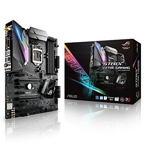 Asus rog strix z270e gaming scheda madre, 1151 atx, aura sync, 802.11ac wi-fi, dual m.2, front usb 3.1 type-c