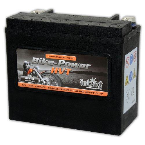 Intakt Bike Power Motorradbatterie HVT 01 SLA 12 V 18 AH 530 A (YTX20L-BS) (Preis inkl. EUR 7,50 Pfand) - Ah Sla-batterie