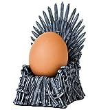 Homezone Thron Eierbecher Spiel mit Thones Stil Ei Halter Eisen Sessel Replik Geschenk Neuheit Geschenk Geschirr Wohndeko