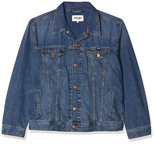 Wrangler Herren Classic Jacket Jeansjacke, Blau (MID Stone 14V), XXXX-Large