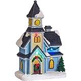 Décoration Eglise pour Village de Noël Lumineux par Lights4fun