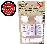 happylovebaby® 8+3 Set Vorteilspack Premium Magnetisches Schrankschloss unsichtbare Kindersicherung zum Kleben ohne Bohren oder Schrauben für Schrank Kommode und Schulbaden Sicherheitsschloss Baby Kinder (6+2)
