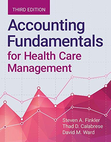 Accounting Fundamentals For Health Care Management por Steven A. Finkler epub