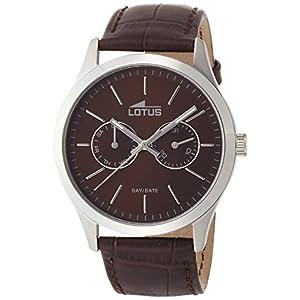Lotus 15956/2 – Reloj de Cuarzo para Hombre, con Correa de Cuero,