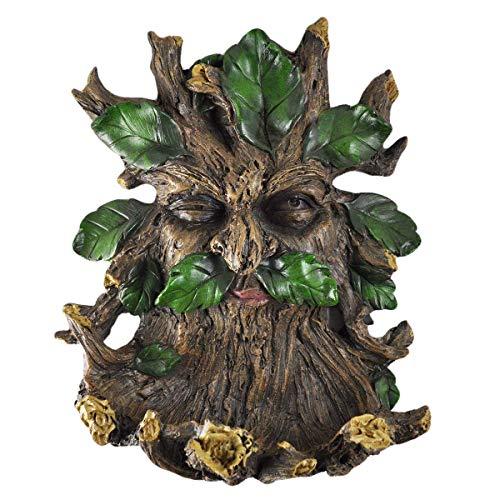 Arbre Ent visage plaque murale pour oiseaux Grande Greenman extérieur décoratif Décor Cadeau. 28 cm