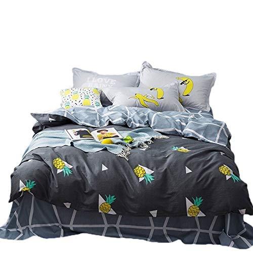 Mmamma Winter Bettwäsche Sammlungen Kinder Cartoon Print Bettbezug-Set Bettlaken und Kissenbezüge Bettwäsche-Set Bettwäsche Heimtextilien Schlafzimmer-Dekor Bettbezug-Set Bettlaken Set -