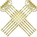 10 tlg Golden Metallstange Mittellochausstech 2 bis 3 Etagere Tortenständer Tortenhalter Für Hochzeitstorte Party