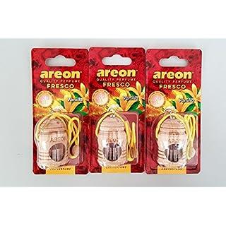 3 x Original Areon FRESCO Holz Parfüm Duftdose Duftbaum Lufterfrischer Vanilla
