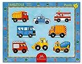 Die Spiegelburg 11410 Rahmenpuzzle mit Fingerlochstanzung Fahrzeuge (8 Teile)