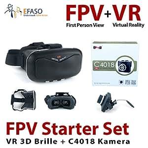 efaso FPV Starter Set - MJX C4018 2.0 MP HD Kamera und VR 3D Brille