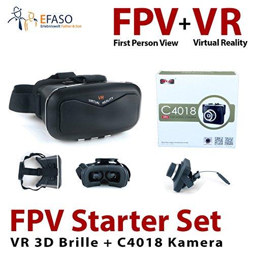 Preisvergleich Produktbild efaso FPV Starter Set - MJX C4018 2.0 MP HD Kamera und VR 3D Brille