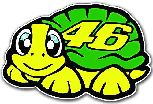 2stk Valentino Rossi 46 Turtle Schildkröte Aufkleber Sticker Decal 11cm Logo JDM Auto Bike Car Laptop Helm Rockstar Kralle