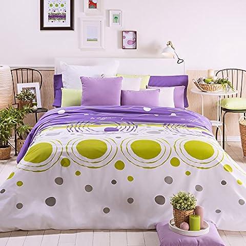 San Carlos Notas - Juego funda nórdica, para cama de 150/160, color morado