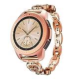 Goseth - Cinturino per orologio da polso, compatibile con Samsung Galaxy Watch (42mm), solido acciaio inossidabile, ricambio, compatibile con smartwatch Samsung Galaxy SM-R810/SM-R815 Fitness