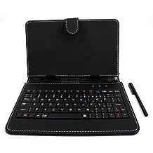 """DURAGADGET Custodia / Tastiera Nera Per Tablet Di 7"""" - Connessione microUSB + Pennino Capacitivo - 2 Anni Di Garanzia - Alta Qualità"""