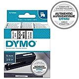 Dymo D1-Schriftband, 9 mm x 7m, schwarz/weiß