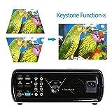 Crenova® XPE600 Tragbarer Beamer HD Projektor 2600 Lumen mit 800 * 480 Auflösung und 2 HDMI 2 USB VGA TV / DTV YPBPR Eingang für Heimkino - Schwarz