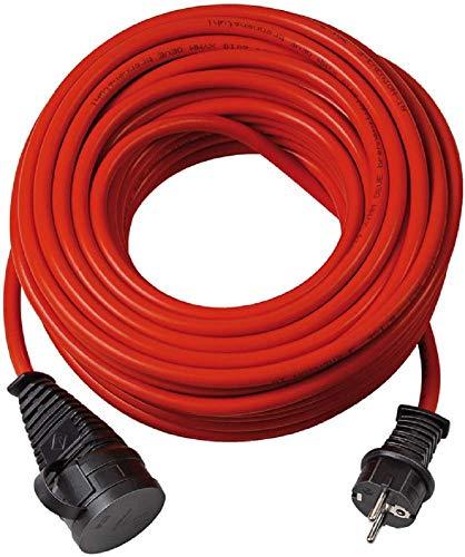 Brennenstuhl Bremaxx Verlängerungskabel (25m Kabel, für den kurzfristigen Einsatz im Außenbereich IP44) rot