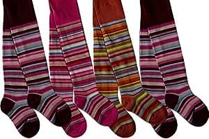 4 Paar Kinder Ringel Strumpfhose für Jungen und Mädchen Farbe für Mädchen Größe 86/92