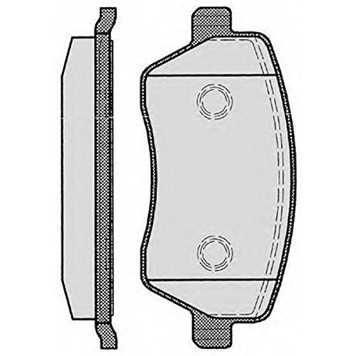 PE08050RB-5620 Kit pastiglie freno Anteriore Permafus