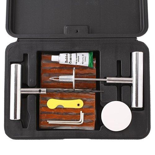 Femor Kit Riparazione di Pneumatici Gomme Professionale per Auto/Moto, 36 Pezzi Riparazione Attrezz