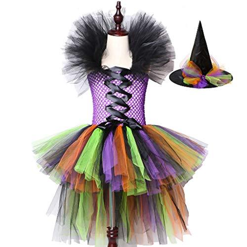 Klassische Hexe Teen Kostüm - DONGBALA Halloween-Hexenkostüm, Mädchen Hexenkleid Kinder Halloween