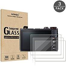 [3-Unidades] Canon G7X Mark II G9X G9XII G7X G5X Protector de Pantalla Cristal Vidrio Templado?Akwox 9H Dureza, Anti-caída, Película de Protección Vidrio para Canon G7X Mark II G9X G9XII G7X G5X