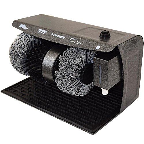 Syntrox Germany Schuhputzmaschine Schuhputzautomat Schuhpoliermaschine mit Gummimatte und 3 Bürsten SPG-120W Shiny (Schuhputzmaschine Schuhputzset /)