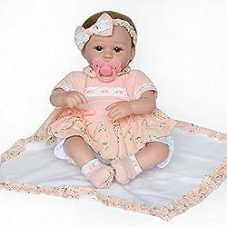 Tricot pour Poupons❤️Beautyjourney BéBé Reborn RéAliste Poupee Enfant Bebe Reborn Realiste Silicone❤️50cm PoupéEs RenaîTre Silicone Baby Dolls pour La Main Doll Baby Kids Playmate Cadeaux (Orange)