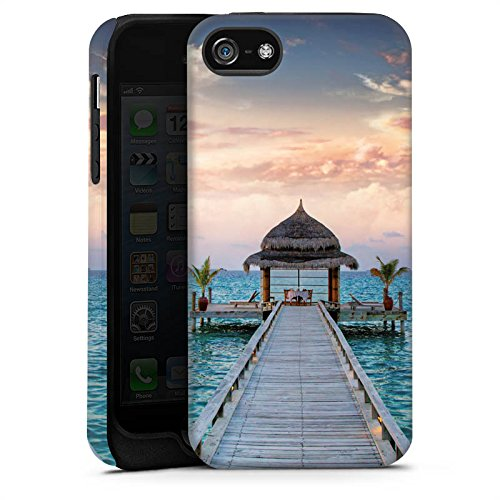 Apple iPhone 6s Housse Outdoor Étui militaire Coque Passerelle Vacances Mer Cas Tough terne