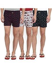 Joven Men's Printed Knit Boxer (Pack of 3)