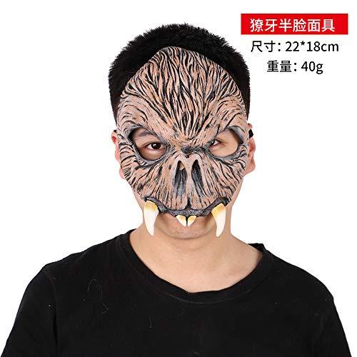 Zombie Kostüm Tanz - DY Halloween Maske Horror Kostüm Tanz Dämon Gas Maske Zombie Untote Latex Kopf Set Party Kultur P0300700426 Halbgesichtsmaske (68-1-08)