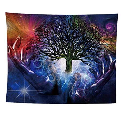 Wandteppiche,Life Tree,Tapiz De Tela Tela Manta Mandala,Decoración Del Dormitorio En EL Hogar,Alfombras De Exterior A 100X75Cm(39X30Inch)