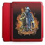 Apple iPad 3 Smart Case rot Hülle mit Ständer Schutzhülle Feuerwehrmann Feuerwehr Firefighter