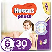 Huggies Active Baby Pants - Size 6, 15-25 kg, 30 Diapers Pants