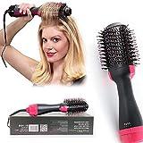 BLINNGO Brosse Soufflante,One-Step SèChe Cheveux Volumisant,Brosse Soufflante Rotative 1000W Sechoir Et Volumateur 2 En 1