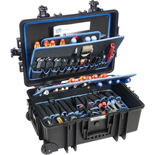 B + W Werkzeugkoffer JUMBO 6700 Fahrbar mit Rollen und Teleskopgriff aus Polypropylen schwarz 554817