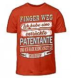 Hochwertiges Kinder T-Shirt - Finger Weg- verrückte Patentante