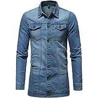 Geili Herren Jeans Jacket Biker Style Jeansjacke Vintage Washed-Out Denim Jacke Lang Sweatjacke Sweatshirt Männer... preisvergleich bei billige-tabletten.eu