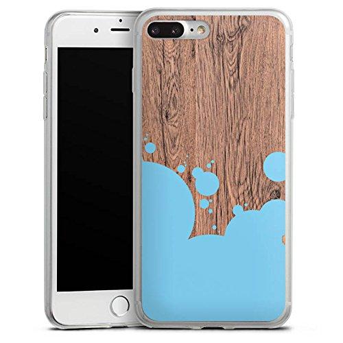 Apple iPhone 8 Slim Case Silikon Hülle Schutzhülle Holz Kleckse Farbe Silikon Slim Case transparent