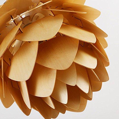 LINA-Lampadario di cono del pino legno country americano ,