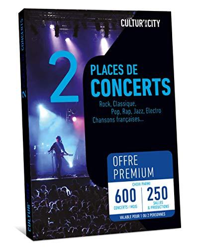 CULTUR 'in The City Coffret Cadeau 2 Places - Box Musique - 600 Concerts Premium - 250 Salles en France - Places de Concert Pop, Electro, Rock, Rap, Jazz ou Musique Classique et chansons françaises