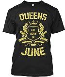 T-Shirt Imprimé pour Homme et Femme S Queens Are Born In June T-Shirt