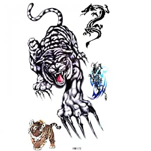 SPESTYLE waterproof non-toxic temporary tattoo stickerstiger temporary temporary tattoos male and female fashion sexy