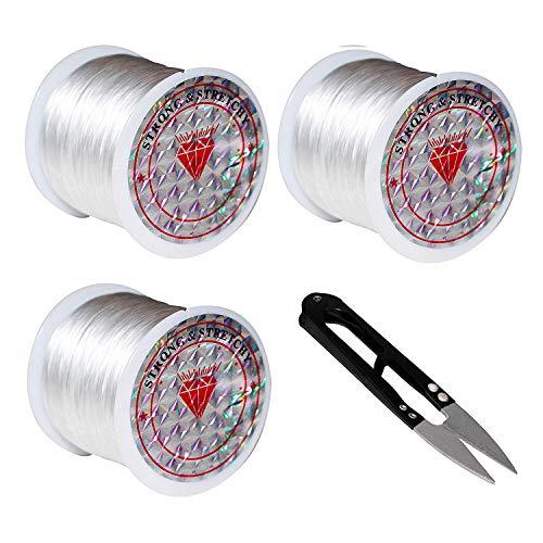 Hilo Bisutería Pack 3 - Rollos 60m - Cordón Elástico