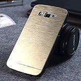 Funda (case - cover) metalica (metal - metalizado) con interior de silicona muy resistente para Samsung Galaxy Grand Neo Plus - Negro