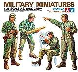TAMIYA 35004 35004-1:35 Figuren-Set US Panzerbesatzung (4), Modellbau, Plastik Bausatz, unlackiert