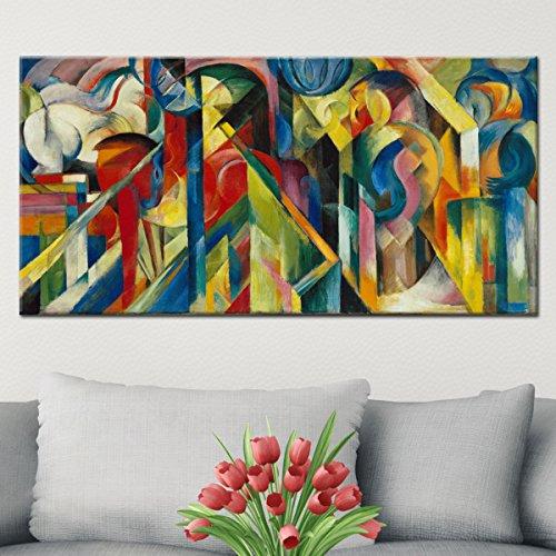"""Wandkings Leinwandbild """"Stallungen"""" von Franz Marc / 60 x 120 cm / auf Keilrahmen"""